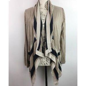 Large August silk open drape cardigan